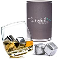 Rocking Whiskey Glass & Steel Whisky Stones Set - A Unique and Cool Bar Gift Set For Any Liquor Lover