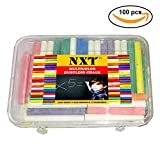 NXT Dustless Multicolor Chalks (100 Counts) Premium Quality, Non Toxic, Easily Washable and Eco Friendly Chalks