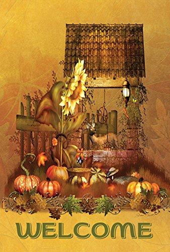 (Toland Home Garden Autumn Farm Welcome 12.5 x 18 Inch Decorative Fall Havest Garden Flag)
