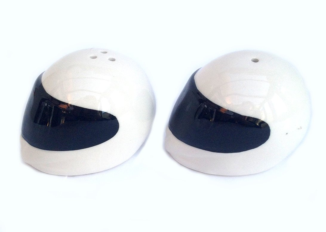 Motorbike Helmet Salt /& Pepper Set by Simply Mugs