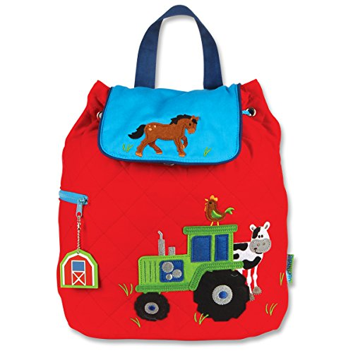 Stephen Joseph Boys Quilted Tractor Backpack with Activity Pad - Kids Bags
