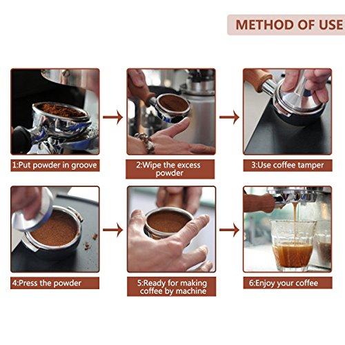 Oobest Stainless Steel Coffee Tamper Bariata Espresso Tamper 51mm Base Coffee Bean Press Tool