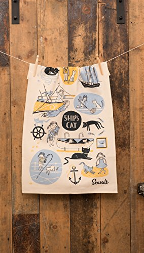 Ulster Weavers Seasalt Ships Cat & First Mate Cotton Tea Towel by Ulster Weavers (Image #1)