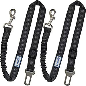 Zenify Dog Car Seat Belt Extendable Lead (2 Pack) – Bungee Leash for Dogs Puppies – Pet Adjustable Elastic Seatbelt… Click on image for further info.