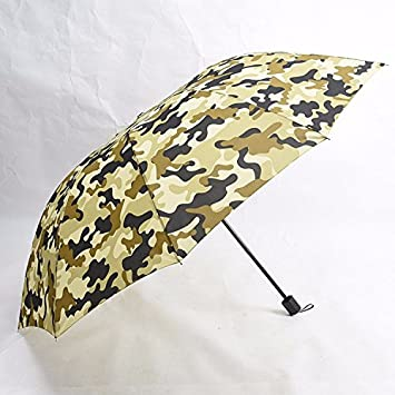 NING567 Manual/Grandes/Dos/Tres/Viento/Paraguas Paraguas Militar de Camuflaje