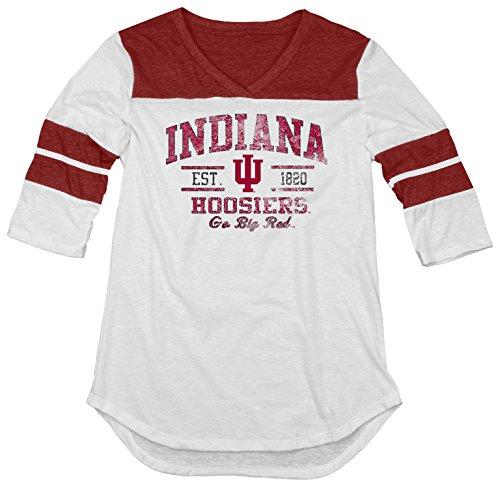 NCAA Indiana Hoosiers Women's Tri-Blend 3/4 Sleeve Tee, Cardinal, ()