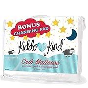 Kiddo Kind Baby Crib Mattress Protector - with Bonus Changing Pad Liner - Waterproof Crib Mattress Pad - Fits Toddler Bed Mattress Too