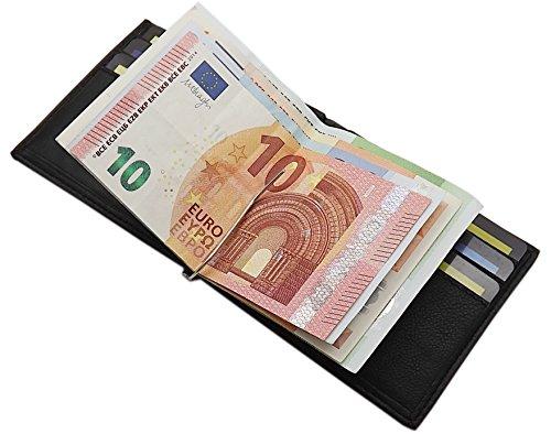 design Ou En Noir Billets Cartes Marron Pince De noir Cuir Et germany Á Mj Porte Crédit OxAwPz7
