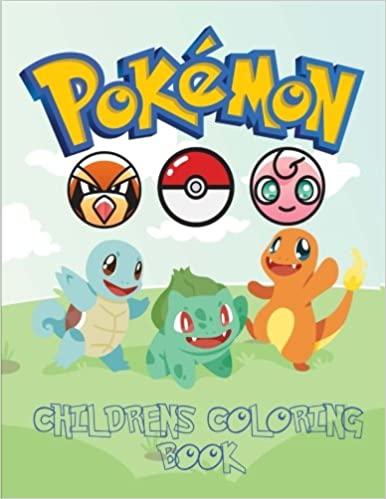 pokemon children s coloring book coloring book with catchable