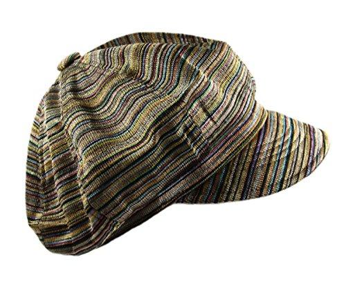Ladies Fashion Newsboy Caps (Ladies Newsboy Caps (BROWN/MULTI))