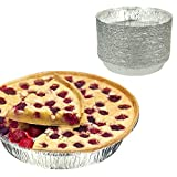 Home Round Pans - 9'' Disposable Aluminum Foil Pans, Standard Size Cake Tins - 9 X 1.75 Inches, Popular Pan Size for Baking Cakes and Quiches, Pack of 50