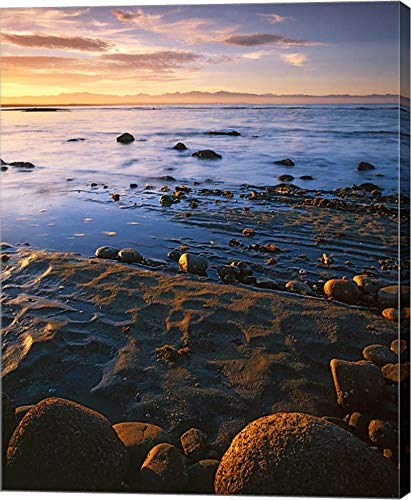 (Sunset, Tasman Bay, South Island, New Zealand by Charles Gurche/Danita Delimont Canvas Art Wall Picture, Gallery Wrap, 38 x 48 inches)