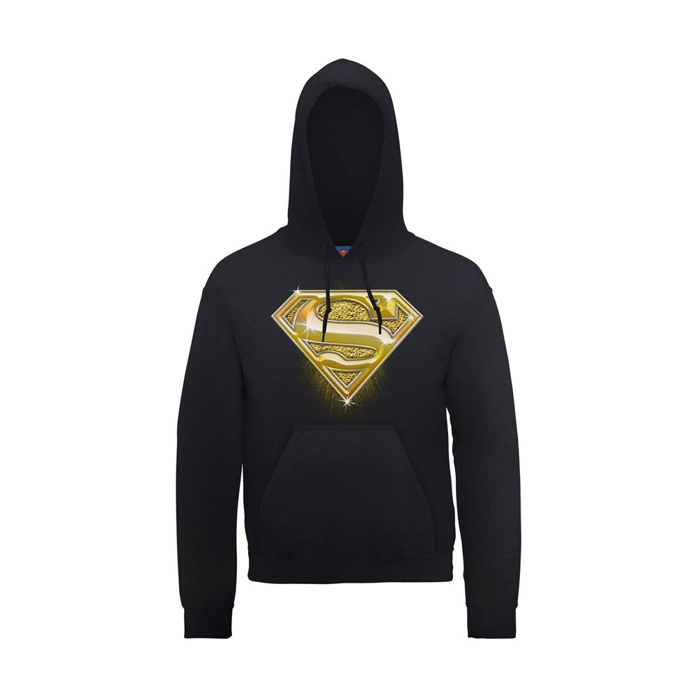 Ni/ños Sudadera con Capucha Dc Comics Superman Bling Logo