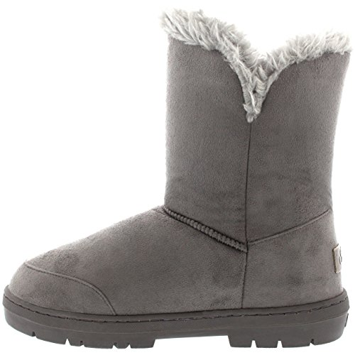 Mujer Twin Toggle Classic Short Fur Impermeable Invierno Rain Nieve Botas - Negro - 38 51sjTDvQAy