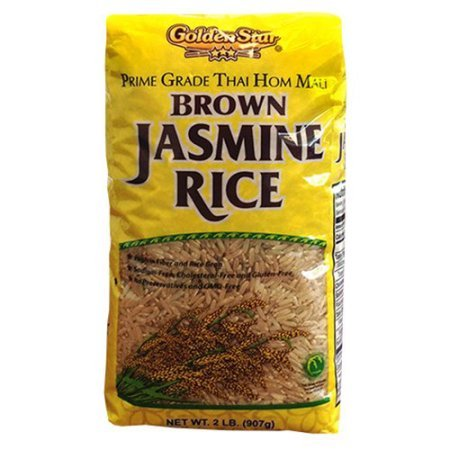 Golden Star Brown Jasmine Rice, 2 lbs, No preservatives and GMO free, Prime Grade Thai Hom Mali by GoldenStar