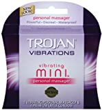 Trojan Vibrations Mini Personal Massager & 1 Premium Latex Condom
