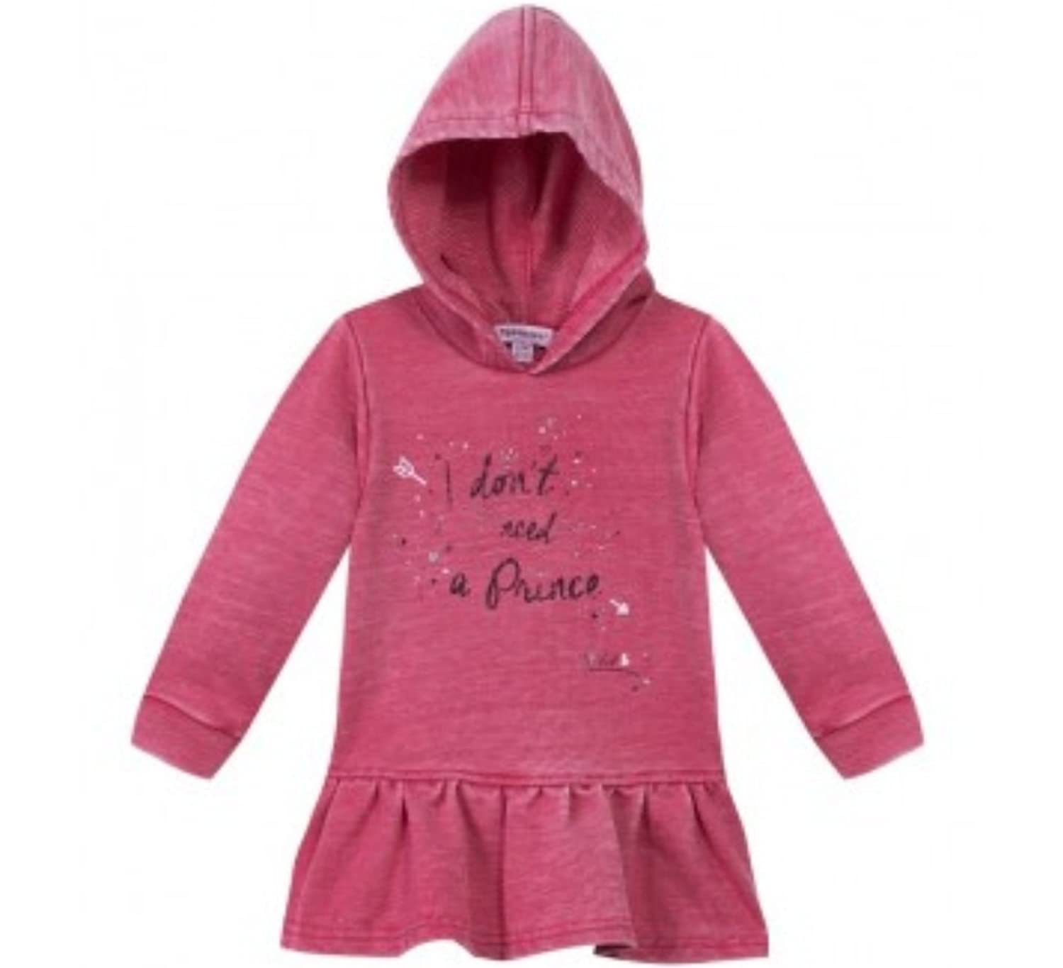 3 POMMES - ROBE BURN OUT CERISE LITTLE STAR - REF 3I30082 - 9/12 MOIS