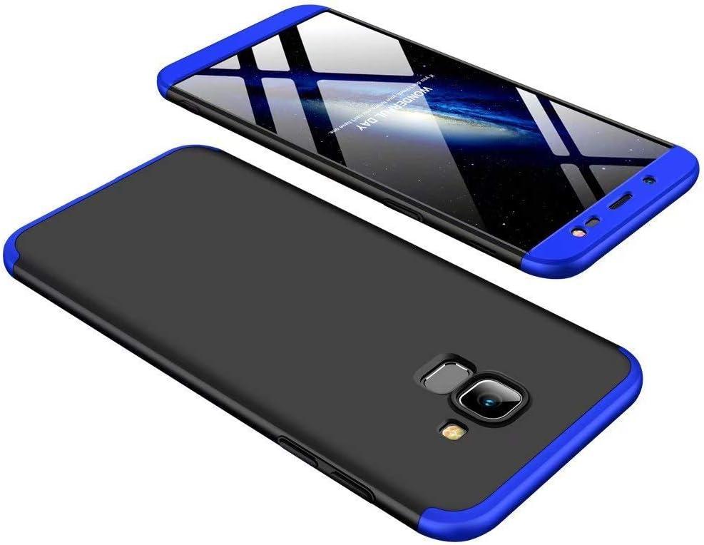 Homikon 360 Grad Hart PC H/ülle 3 in 1 Komplettschutz Tasche Plastik Handyh/ülle mit Tempered Glas Panzerglas Ganzk/örper-Koffer Schutzh/ülle Kompatibel mit Samsung Galaxy J6 2018 Schwarz