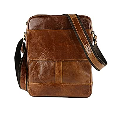 e2e44ae6d4 best Genda 2Archer Men Genuine Leather Travel Briefcase Crossbody Satchel  Messenger Bags