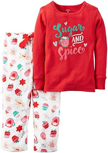 Carter's Baby Girls 2 Pc Fleece 337g157, Print, (Girls Carters 2 Piece Pajamas)