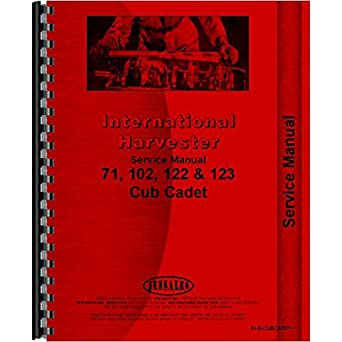 amazon com service manual for international harvester cub cadet 71 rh amazon com