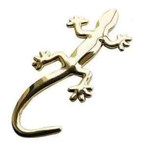 1pcs de la nueva manera de camión etiqueta engomada del metal del coche de la decoración Styling Cool 3D del emblema del lagarto del Gecko sólidas Coches Camiones logotipo pegatinas Decal