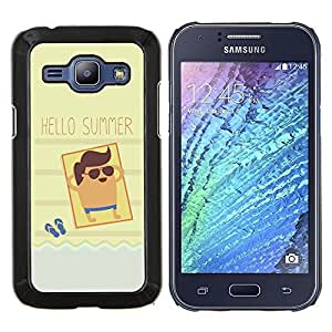 Stuss Case / Funda Carcasa protectora - Sun Beach Tan Mar Fresco - Samsung Galaxy J1 J100