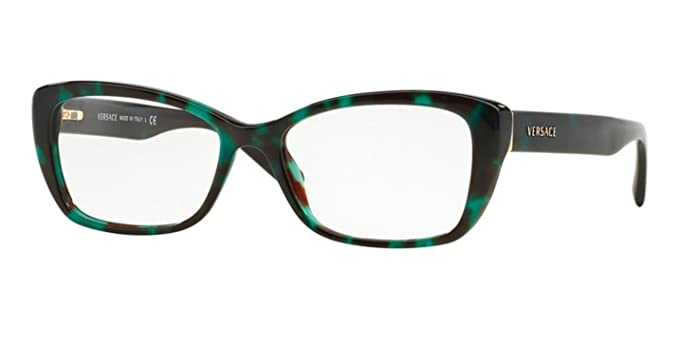 15c44becfd2b Image Unavailable. Image not available for. Color  Versace VE3201 Eyeglass  Frames 5076-52 - Green Havana ...