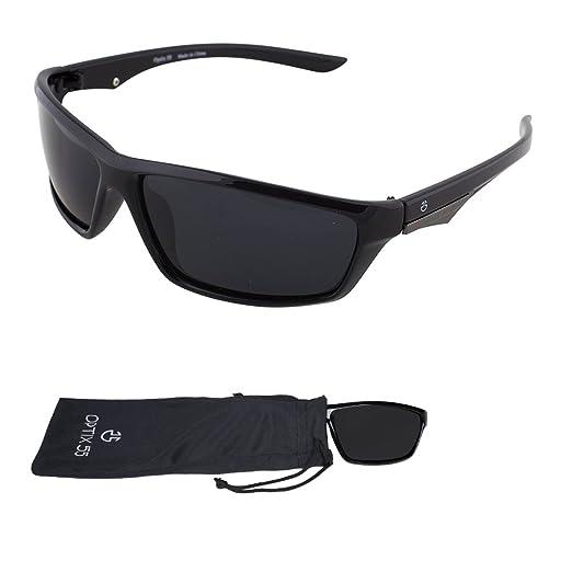 7c35184295 Amazon.com  Polarized Sport Sunglasses - Durable Lightweight Unisex Frame  For Running