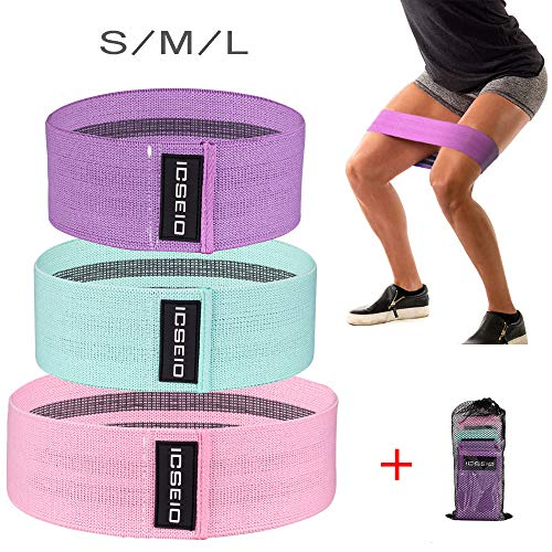 Booty Resistance Workout Hip Exercise Bands for Legs and Butt,Hip Bands Wide Booty Bands Workout Bands Sports Fitness Bands Stretch Resistance Loops Band Anti Slip Elastic - Activate Glutes and Thighs