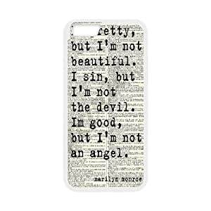 Marilyn Monroe Quote Customized Cover Case with Hard Shell Protection for Iphone6 4.7