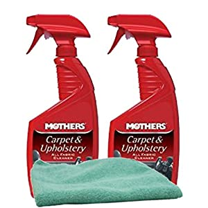 Mothers Carpet & Upholstery Cleaner (24 oz.) Bundle with Microfiber Cloth (3 Items)