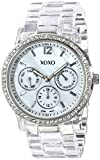 XOXO Women's XO5529 Clear Bracelet with Rhinestones on Silver Case Watch