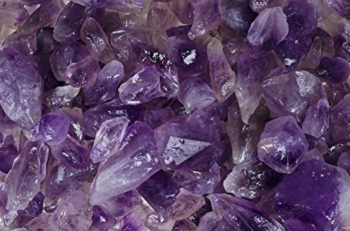 Fantasia Materials: 1 lb Amethyst High Grade Rough from Brazil - (Select from 3 Grades) - 'AA' Grade Semi Point - Raw Natural Crystals for Cabbing, Cutting, Tumbling, Polishing, Wire Wrapping, Reiki