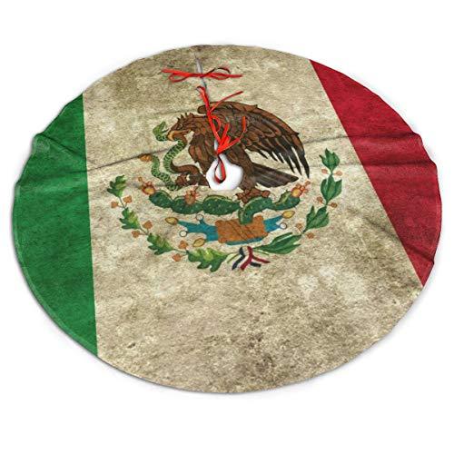 WU4FAAR Falda para árbol de Navidad, diseño de Bandera Mexicana ...