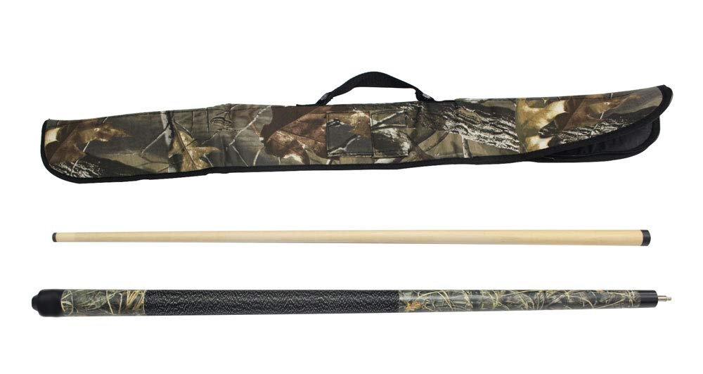 Game Room Guys Viper Realtree 19 oz Max 4 Camo Cue with Soft Hardwoods HD Camo Case