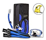 SealBuddy FIJI Panoramic Snorkel set + Premium Travel Gear Bag ~ Vest Included ()