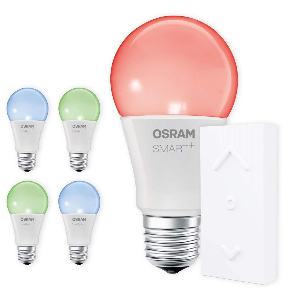 OSRAM SMART+ SWITCH KIT E27 RGB Farbwechsel LED dimmbar + Dimmschalter weiß Auswahl 5er Set