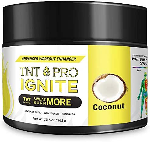 Slimming Cream for Belly with Coconut Oil - TNT Pro Ignite Sweat Cream for Men and Women - Thermogenic Weight Loss Slimming Workout Enhancer for Stomach, Abdominal Burner - 6.5 oz Jar