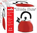 Ddi 2. 5 Qt Whistling S/S Tea Kettle - Red