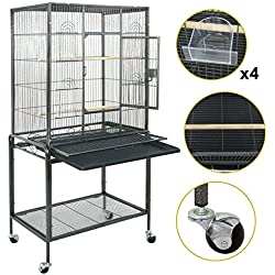 "SUPER DEAL 53"" Large Bird Cage Play Top Parrot Chinchilla Cage Macaw Cockatiel Cockatoo Pet House, 53 inch"