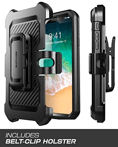 SUPCASE iPhone XR Case, Full-Body Rugged Holster Case with Built-in Screen Protector for Apple iPhone XR (2018 Release), Unicorn Beetle Pro Series (Black) by SUPCASE (Image #4)