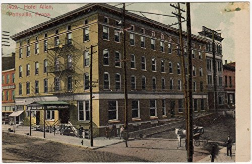 Postcard Hotel Allan in Pottsville, Pennsylvania~95284