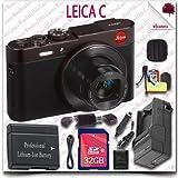 Leica C CMOS WiFi NFC Digital Camera (Red 18489) + 32GB SDHC Class 10 Card + HDMI Cable + Soft Camera Case + 12pc Leica Saver Bundle