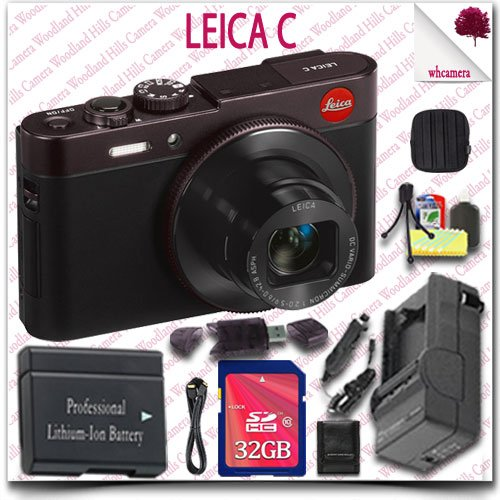 Leica C CMOS WiFi NFC Digital Camera Red 18489 32GB SDHC Cla
