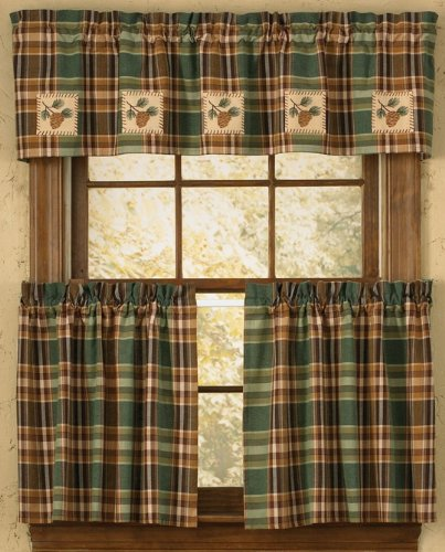 Patch Pinecone - Park Designs Pinecone Patch Lined Valance, 60 x 14