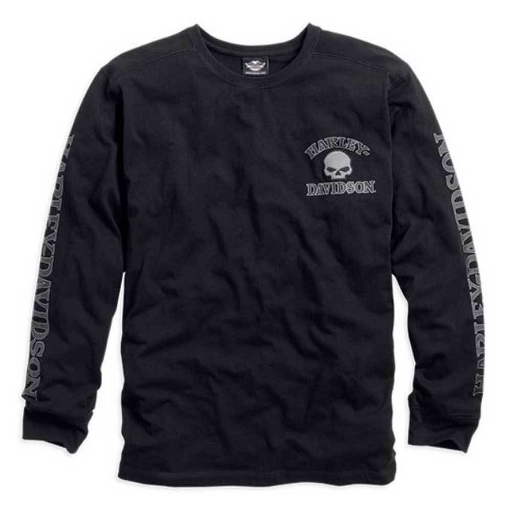 Harley-Davidson® Men's Skull Long Sleeve Tee, Black - 99091-14VM