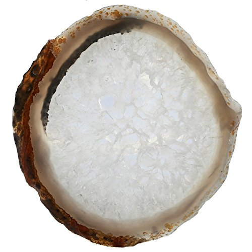 (rockcloud 1 PC Agate Slices Geode Stones,Place Card,Irregular Home Decoration Healing Crystals Collection 3-4.3