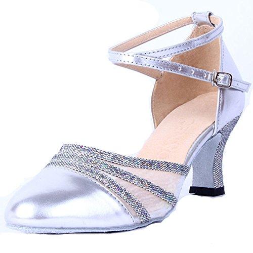 8e09dceb Buena Zapatos Latinos Profesionales De La Muchacha De Las Mujeres De Satén  Superior Sandalias De Salsa