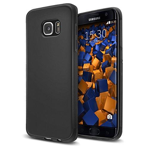 mumbi double GRIP Hülle für Samsung Galaxy S7 Edge Schutzhülle schwarz